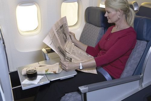 American Airlines Business Class Seat Photographs Skytrax