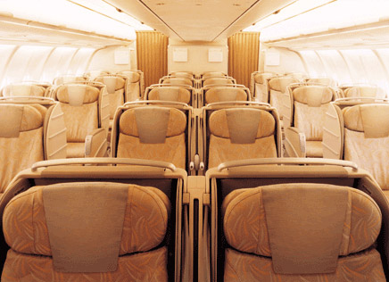 Asiana Airlines Boeing 777 Business Class Seat Photographs