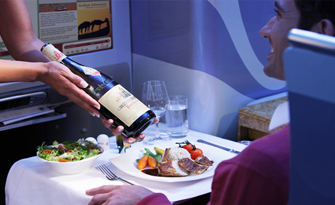 Emirates flat-bed seats in Business Class