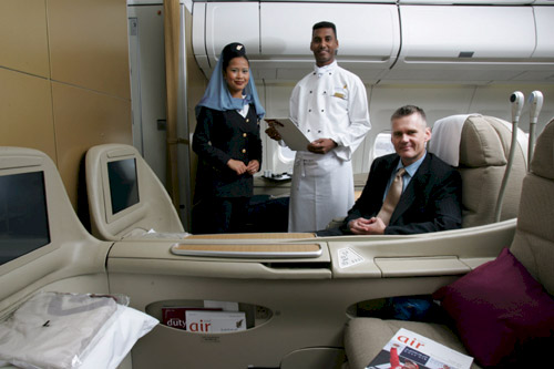 Gulf Air First Class And Business Class Seat Photographs
