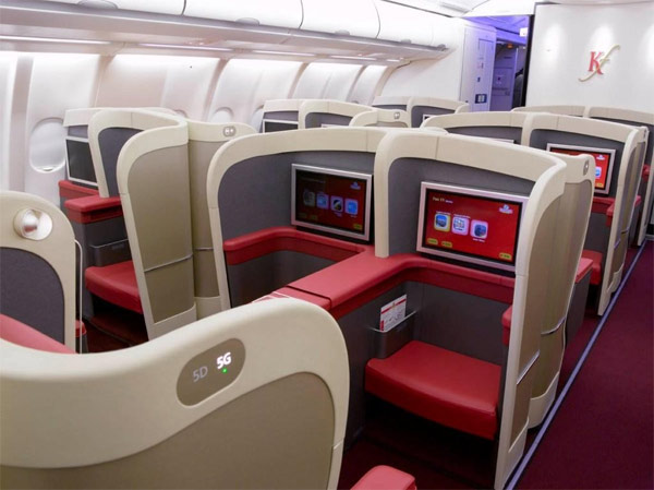 Kingfisher Airlines Business Class Seat Photographs Skytrax