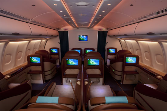 Oman Air Business Class Seat Photographs Skytrax